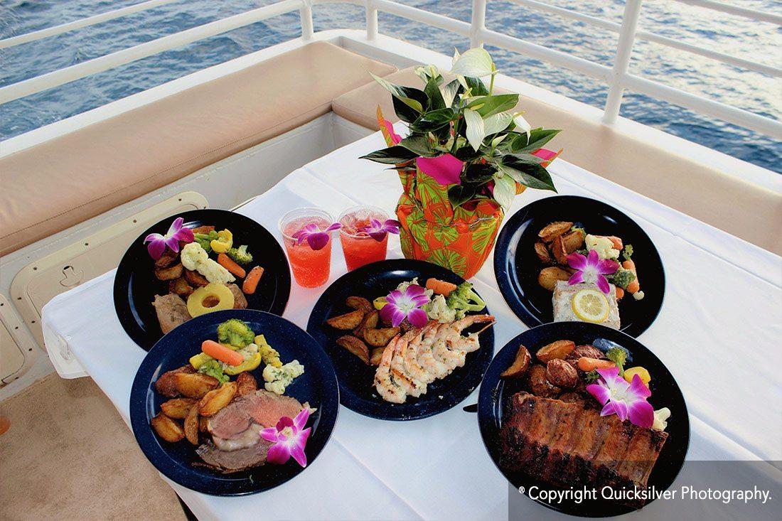 Quicksilver Dinner Cruise Meal Options Sunset Dinner Cruise