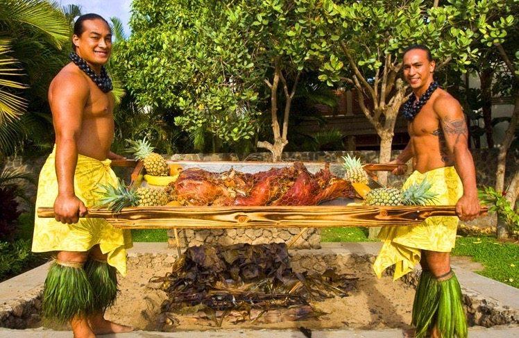 Beach Front Marriott Luau Delicious Hawaiian Kalua Pig Maui